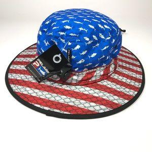 3163a01b1 Pelagic Sunsetter Patriot Fishing Hat AA00094 NWT